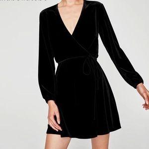 NWT Express Velvet Wrap Dress